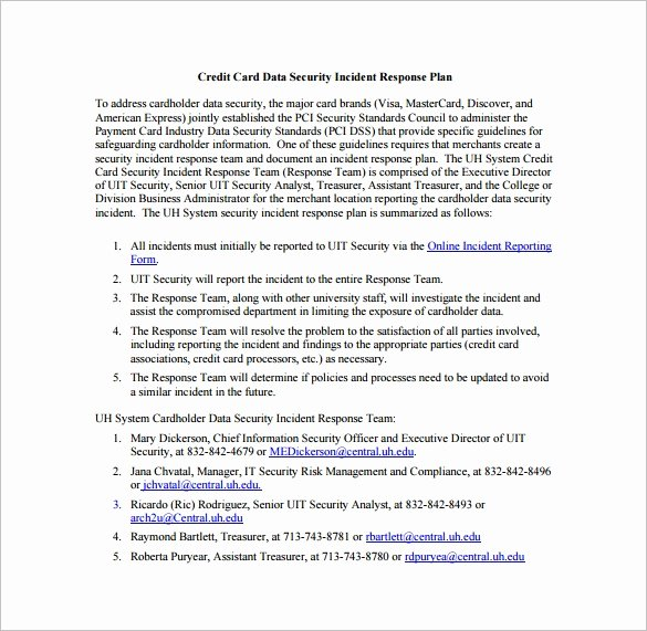 Cyber Incident Response Plan Template Lovely 11 Incident Response Plan Templates Pdf Word format