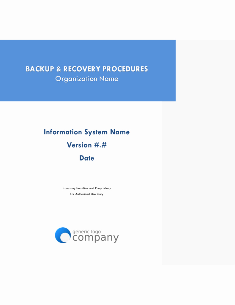 Cyber Incident Response Plan Template New Cyber Incident Response and Contingency Plan Templates