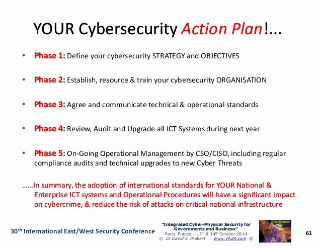 Cyber Security Plan Template Awesome National Cybersecurity Roadmap and Action Plan