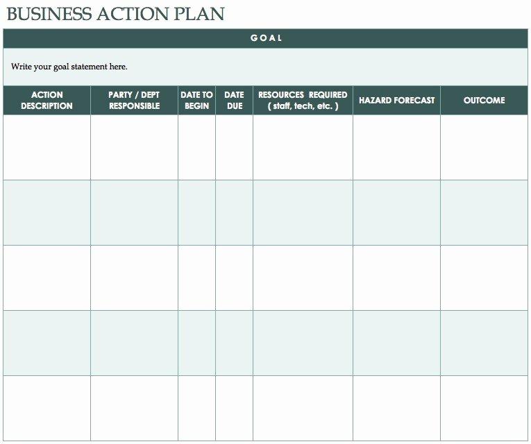 develop plan action free templates