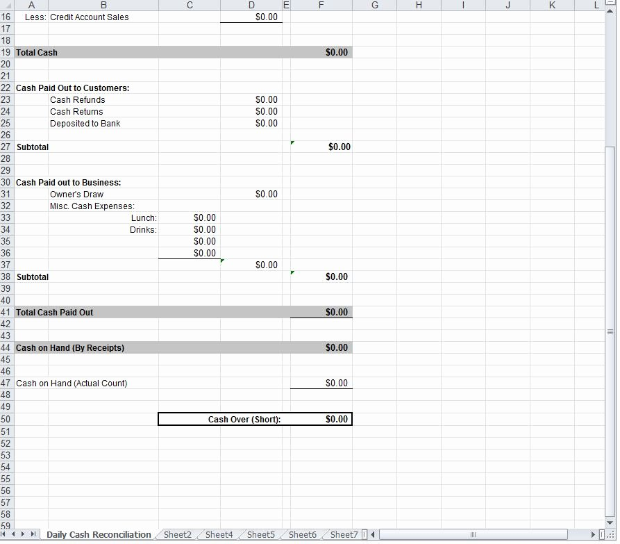 Daily Cash Sheet Template Excel Awesome Daily Cash Sheet