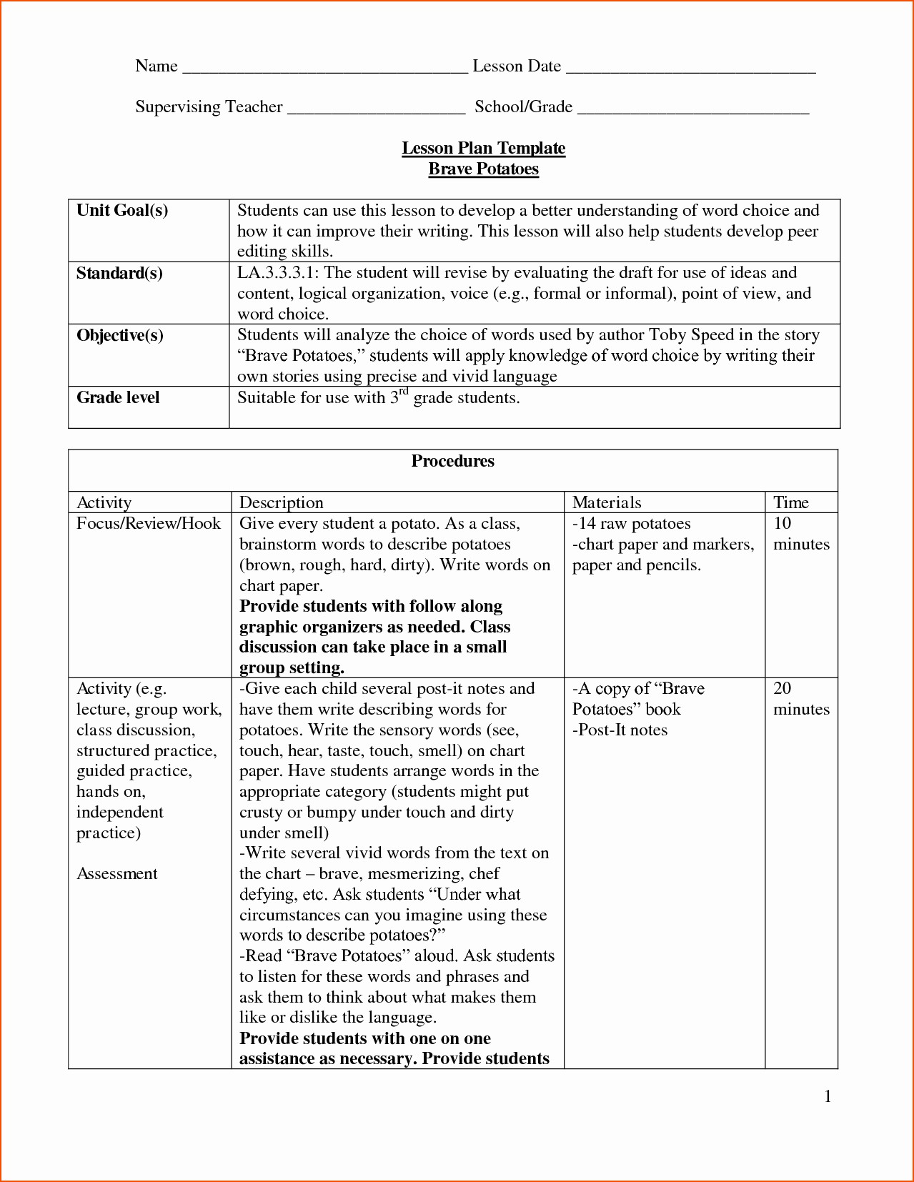 Daily Lesson Plan Template Doc Inspirational 8 Lesson Plan Template Doc Bookletemplate