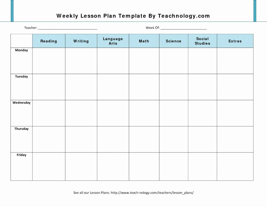 Daily Lesson Plan Template Doc Luxury Daily Lesson Plan Template Doc