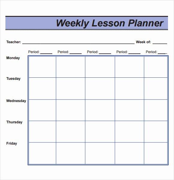 Daily Lesson Plan Template Doc Unique 10 Sample Lesson Plans