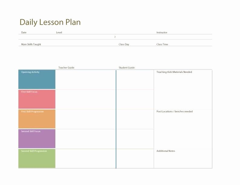 Daily Lesson Plan Template Luxury Daily Lesson Plan Template Fotolip Rich Image and