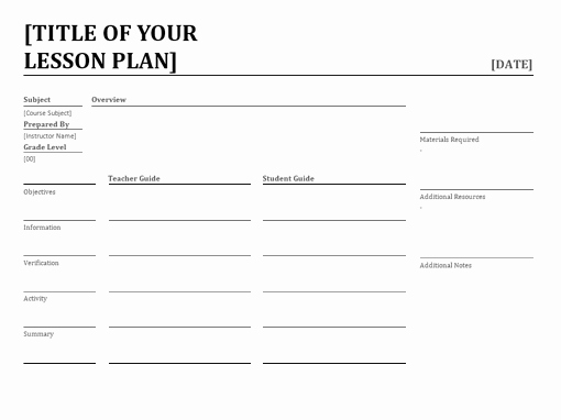 Daily Lesson Plan Template New Daily Lesson Planner