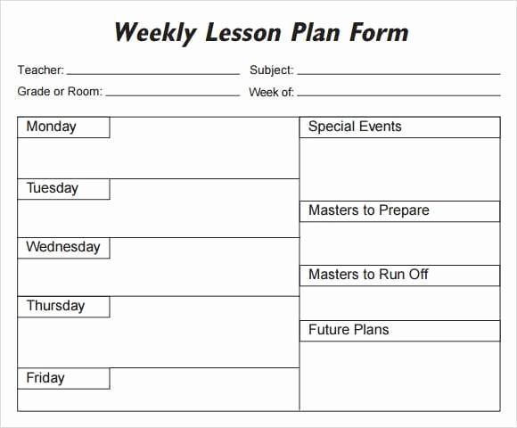 Daily Lesson Plan Template Pdf Elegant 5 Free Lesson Plan Templates Excel Pdf formats