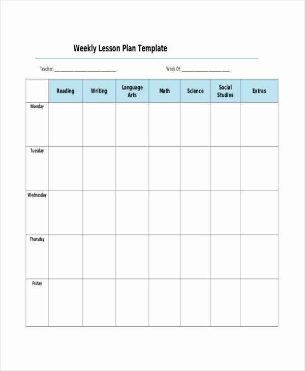 Daily Lesson Plan Template Pdf Fresh Lesson Plan Template 17 Free Word Pdf Documents