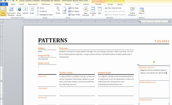 Daily Lesson Plan Template Word Beautiful Daily Lesson Planner Template for Word