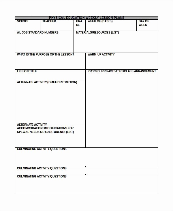 Daily Lesson Plan Template Word Best Of Sample Lesson Plan In Word 10 Examples In Word
