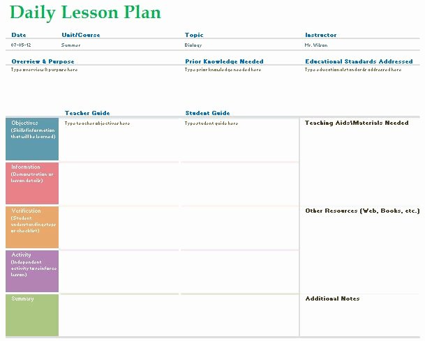 Daily Lesson Plan Template Word Elegant Teacher Daily Lesson Planner Template