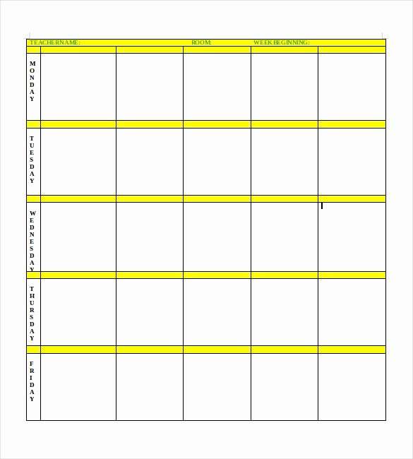 Daily Lesson Plan Template Word Luxury Blank Lesson Plan Template