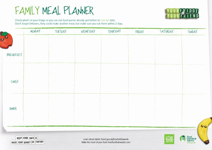 Daily Meal Plan Template Awesome 3 Daily Meal Food Planner Templates Free Download