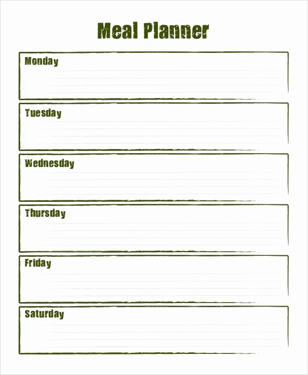 Daily Meal Plan Template Best Of Sample Meal Planning 7 Documents In Word Pdf