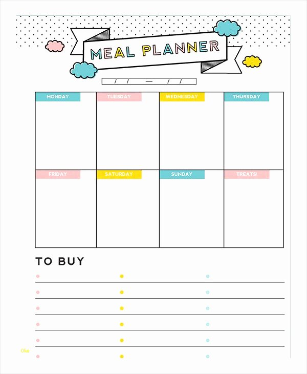 Daily Meal Plan Template Elegant Awesome Daily Meal Plan Template