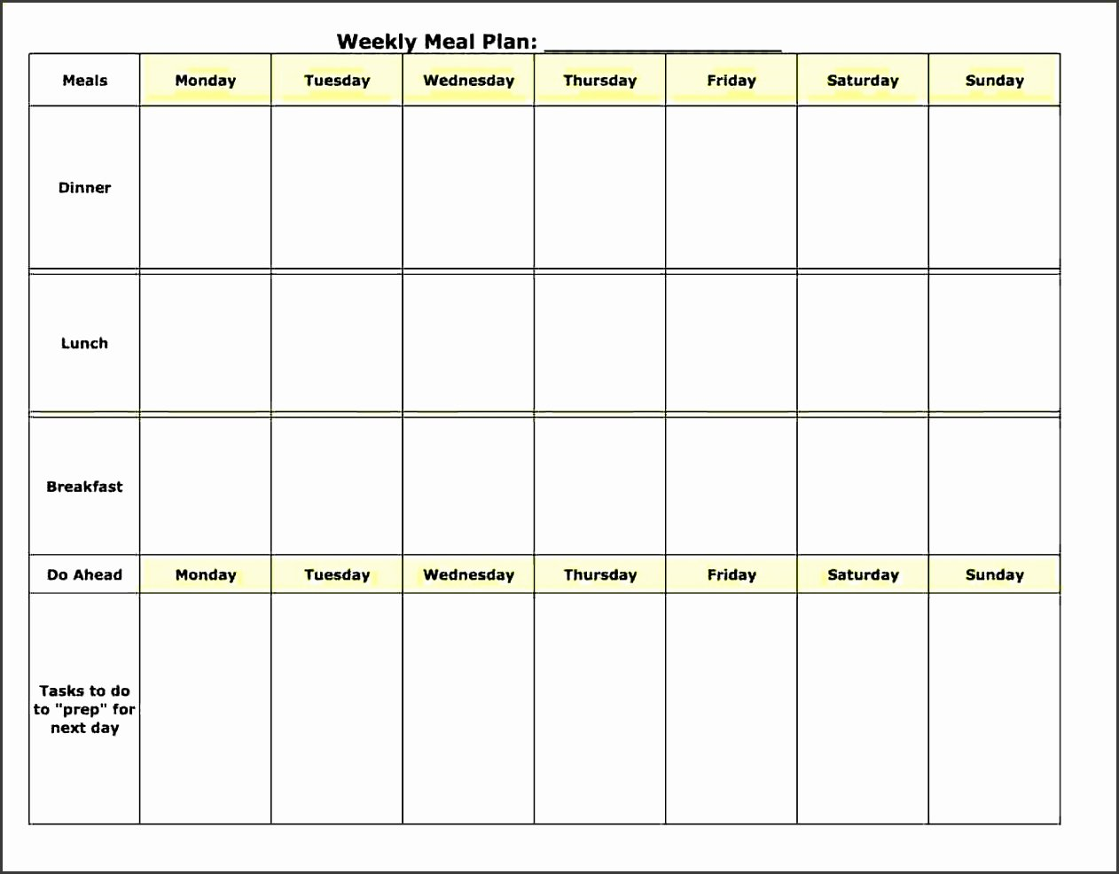 Daily Meal Plan Template Luxury 5 Daily Meal Planner Template Sampletemplatess