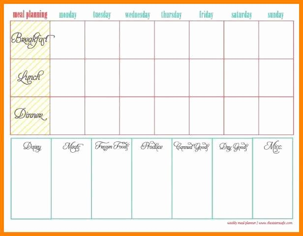Daily Meal Plan Template New 8 Daily Meal Plan Template