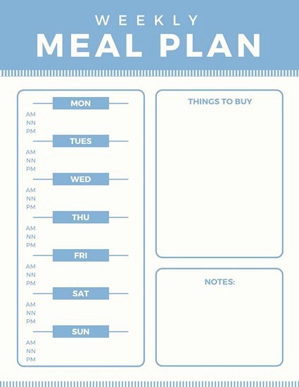 Daily Meal Plan Template New Customize 610 Planner Templates Online Canva
