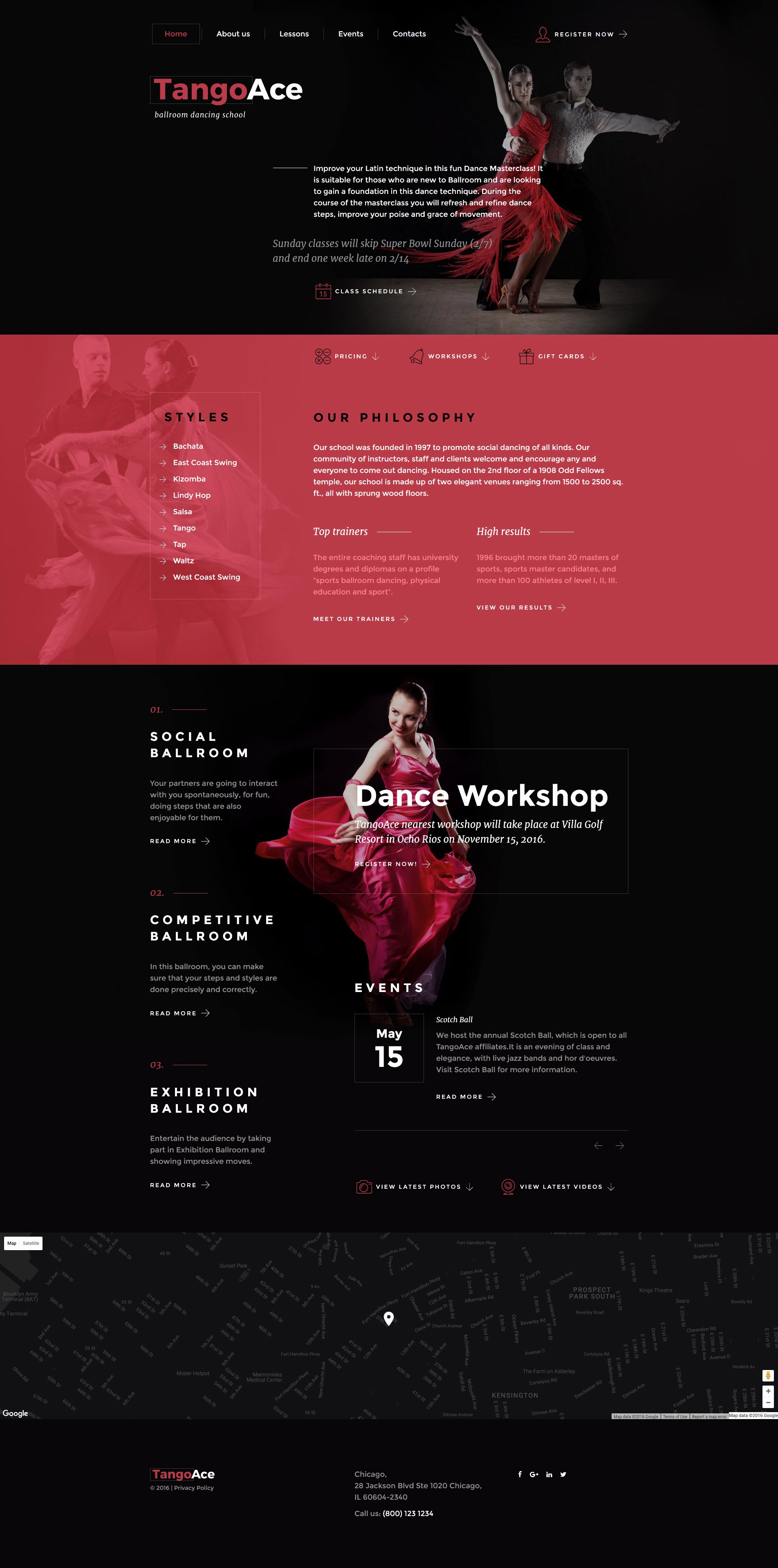 Dance Lesson Plan Template New Dance Academy Website Template