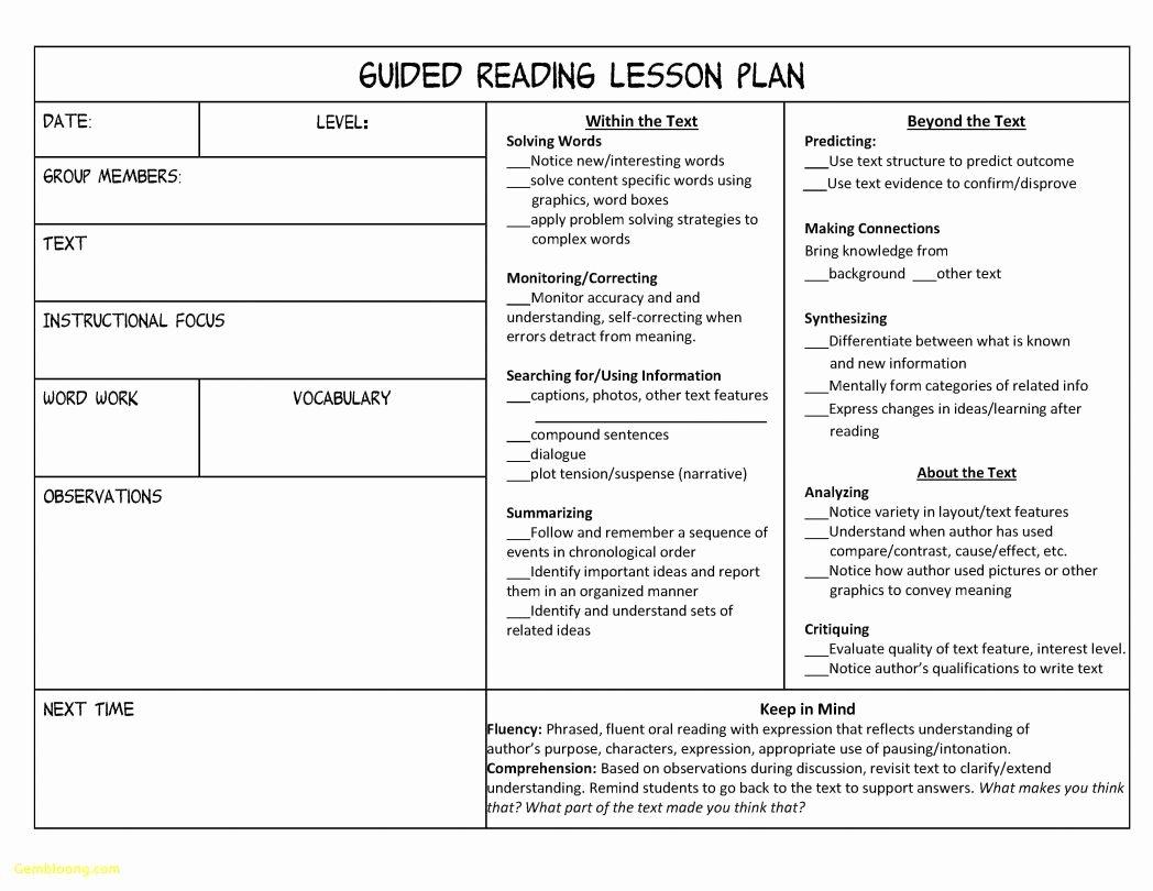 Danielson Framework Lesson Plan Template New Danielson Framework Lesson Plan Template 12 Heegan Times