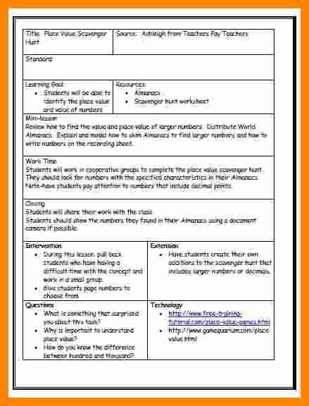 Danielson Framework Lesson Plan Template Unique Danielson Framework Lesson Plan Template