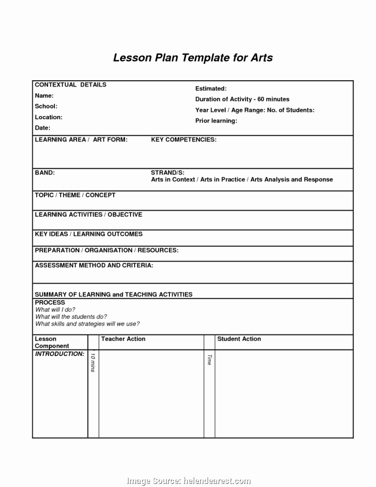 Danielson Lesson Plan Template Awesome Charlotte Danielson Framework Lesson Plan Template