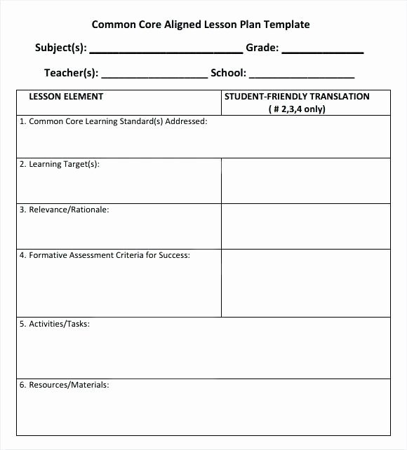 Danielson Lesson Plan Template Best Of Charlotte Danielson Blank Lesson Plan Template – Lesson
