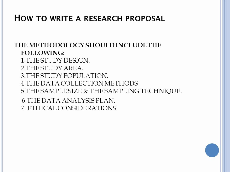 Data Analysis Plan Template Beautiful How to Write A Research Proposal Ppt Video Online