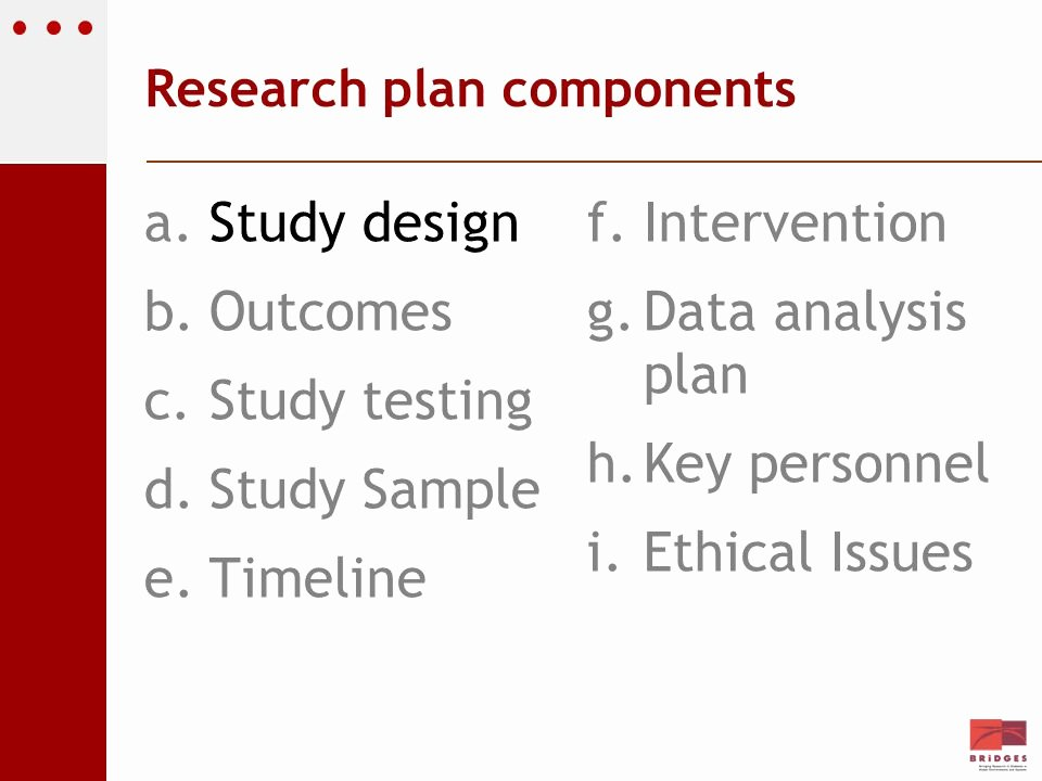Data Analysis Plan Template Luxury Idf Bridges Translational Research Grants Course Ppt