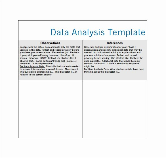 Data Analysis Plan Template New 5 Data Analysis Samples
