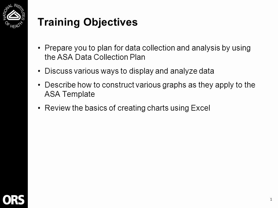 Data Analysis Plan Template New Training Objectives Prepare You to Plan for Data