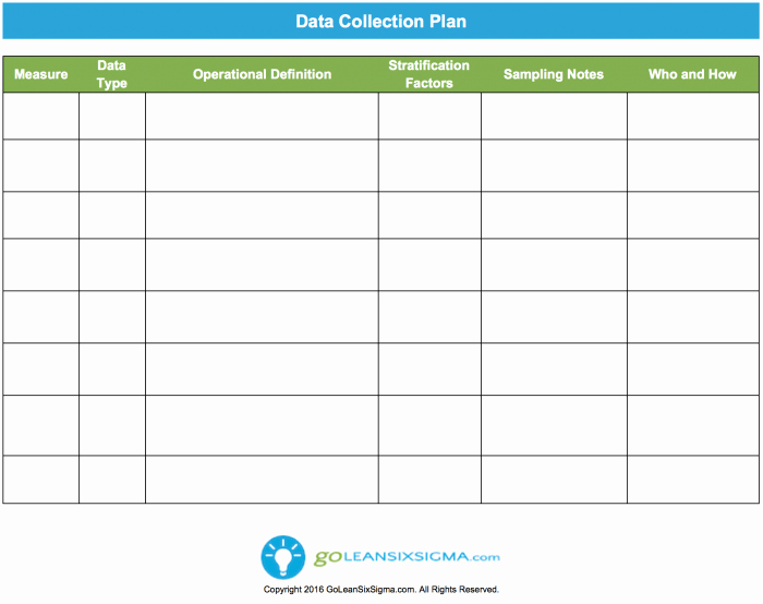 Data Collection Plan Template Awesome Data Collection Plan Template & Example