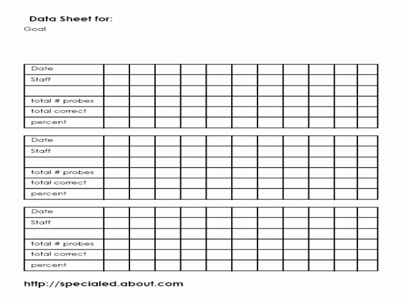 Data Collection Plan Template Fresh Iep Goals Data Collection Sheet Template Special Education