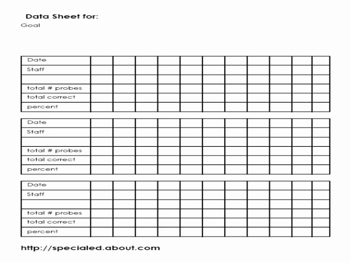 Data Collection Plan Template New Iep Goals Data Collection Sheet Template Special Education