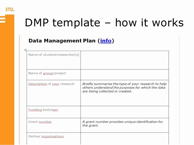 Data Management Plan Template Elegant Data Management Plan Template Templates Station