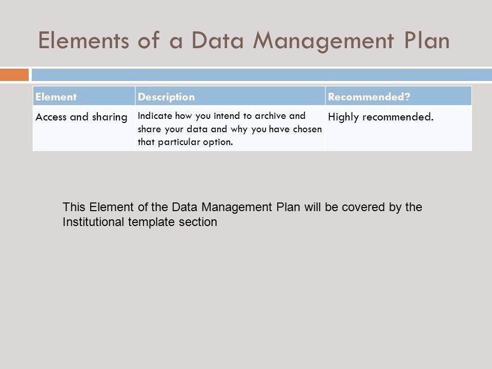 Data Management Plan Template Fresh Guidance On Preparing A Data Management Plan Ppt Video