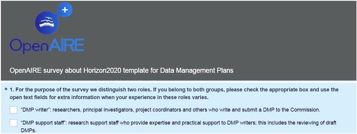 Data Management Plan Template Unique Survey the Horizon Template for Data Management Plans