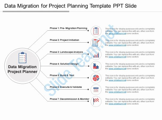Data Migration Plan Template Luxury Style Linear 1 Many 7 Piece Powerpoint