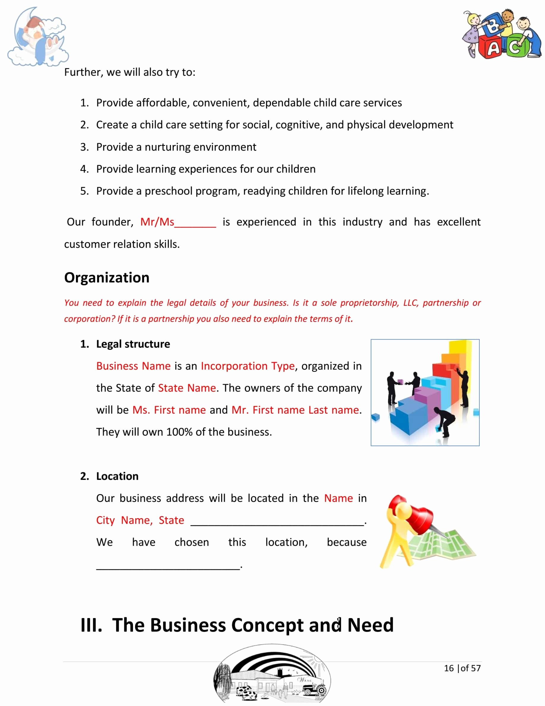 Daycare Business Plan Template Best Of Day Care Business Plan Template Sample Pages Black Box