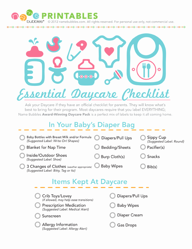Daycare Cleaning Checklist Templates Awesome the Essential Daycare Checklist