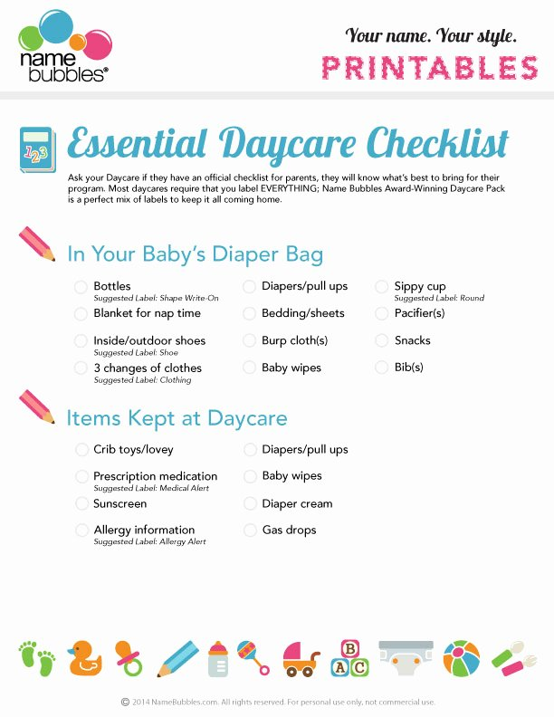 Daycare Cleaning Checklist Templates Best Of the Essential Daycare Checklist