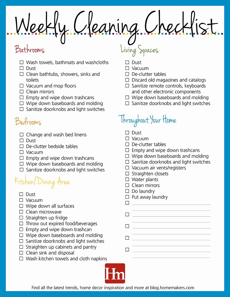 Daycare Cleaning Checklist Templates Unique Free Printables Daily Weekly & Monthly Cleaning Schedule