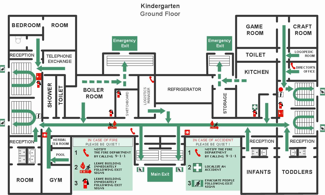 Daycare Emergency Preparedness Plan Template Unique Fire Emergency and Evacuation Plan Template
