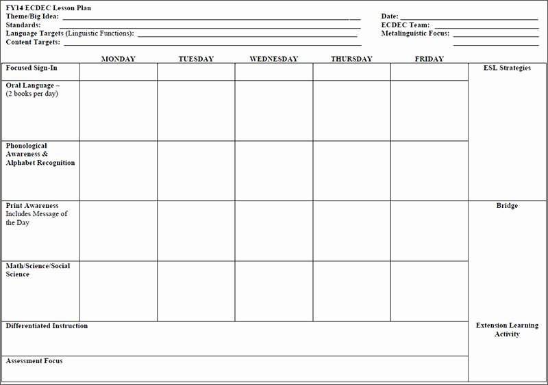Daycare Lesson Plan Template Awesome 7 Preschool Lesson Template Free Word Excel Pdf formats