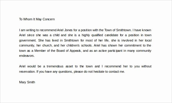Daycare Letter Of Recommendation Awesome Sample Personal Letter Of Re Mendation 16 Download