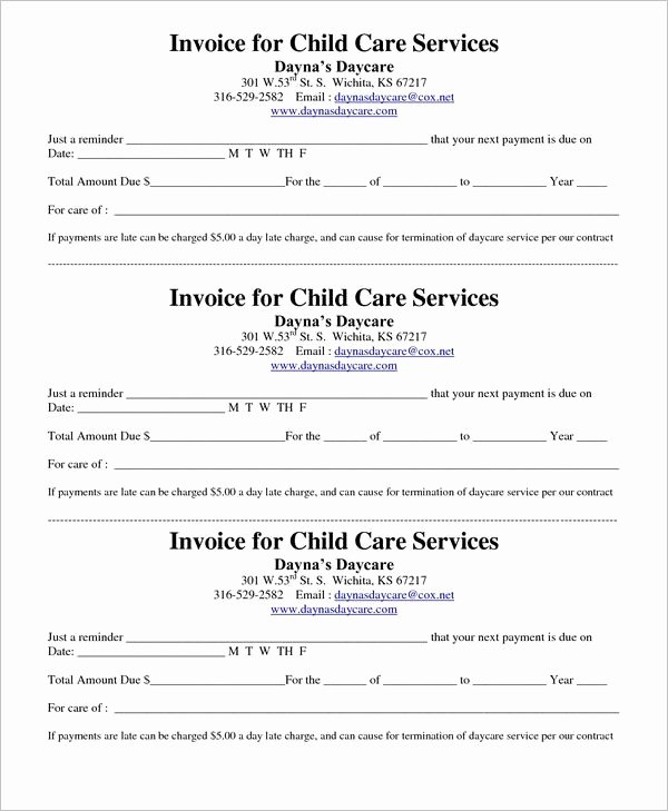 Daycare Tax Receipt Template Beautiful 21 Daycare Receipt Templates Free Pdf Word Excel formats
