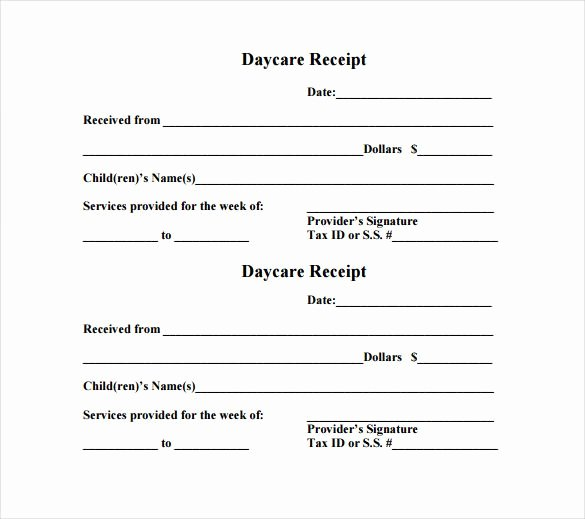 Daycare Tax Receipt Template Fresh Daycare Receipt Template – 12 Free Word Excel Pdf