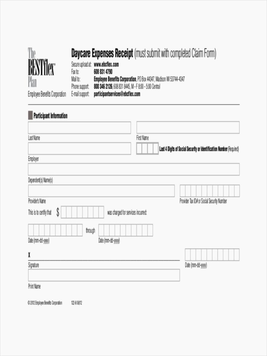 Daycare Tax Receipt Template Inspirational Five top Risks attending Tax form for