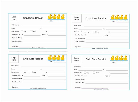 Daycare Tax Receipt Template Luxury 20 Daycare Receipt Templates Doc Pdf