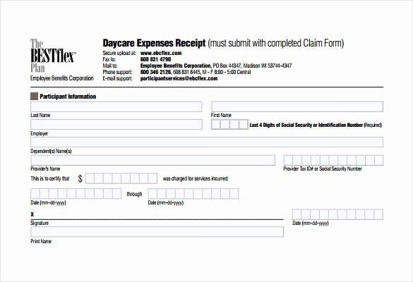 Daycare Tax Receipt Template Luxury 21 Daycare Receipt Templates Pdf Doc